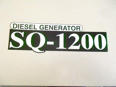 G3816-88120 Kubota Sq-1200 Diesel Generator Decal Logo Sticker Emblem Sq1200