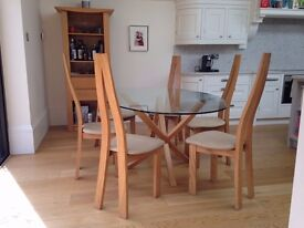 Quality Elm Dining Room Table, Chairs & three Sideboard units