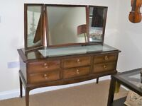 Stag Minstrel Dressing table (6 drawer). Solid mahogany, dovetailed drawers. Also matching tallboy.