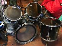 Mirage Drum kit shell pack. Remo, Evans heads