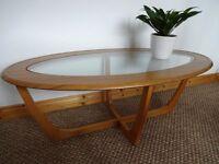 Vintage Retro Oval Coffee Table