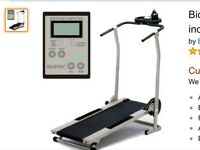 Treadmill non motorised folding , lightweight. with 3 position incline.