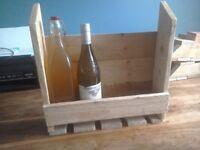 Timber wine holder
