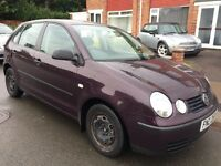 Volkswagen Polo 1.2 E 5dr £199 2004 'Spares or Repairs'