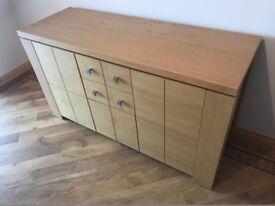 Oak Sideboard. 2 Drawer, 3 Cupboard