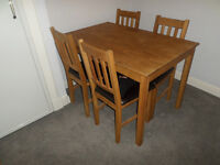 Coxmoor Oak Dining Table Set with 4 Chairs