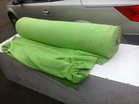 Various rolls of material.