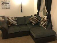 Corner sofa and armchair