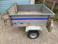 Franc Galvanised Trailer, 300kg, Dropdown Tailgate, Lights, Stores Upright, Perfect For Tip Runs Etc