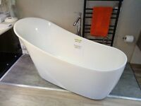 Ex-Display Bath, Music System and floor standing Tap & Basin Mixer Sold as seen. Retails on 4k