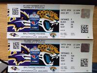 2x Tickets for Baltimore Ravens vs. Jacksonville Jaguars (24/09) @ Wembley Stadium