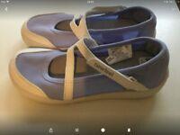 The new girl's ballerina shoes 12 UK