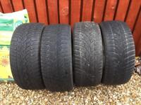 4 x Dunlop SP Winter sport 3D tyres 225/45/17 free to collect