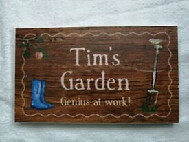 Garden Plaque NEW FREE FOR COLLECTION ONLY