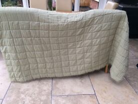 Laura Ashley quilted throw - pale green