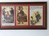 Framed Vintage posters.