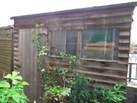 Attractive rustic Garden Shed, storage, bicycle shed; 7.5ft x 3ft floor dimensions.