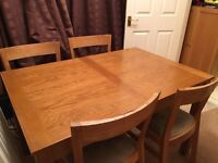 Ikea roger oak dining chairs set of 4