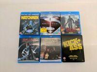Selection of 6 Comic Book Bluray films - including Steelbook ltd edition Kick-Ass