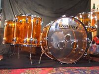 Ludwig Vistalite Drum Kit. Bonham, Zep Kit.