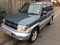 LOW MILEAGE,HPI CLEAR,AUTOMATIC MITSUBISHI PININ GDI,FULL SERVICE HISTORY,4X4 option (Hi &LOW)
