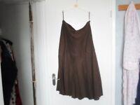 ladies brown skirt