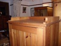 Pine single wardrobe only £15.00 Swindon SN1 Somoke and pet free home