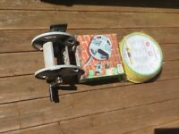 Hose and wall reel, brand new.