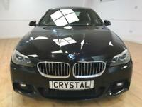 BMW 5 SERIES 2.0 525D M SPORT 4d AUTO 215 BHP CONNECTED DRIVE + (black) 2013