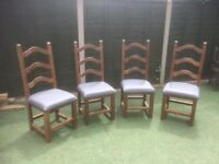 Dining chairs x 4 for sale