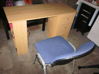 CHILD'S STUDY DESK AND CHAIR