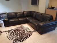 LEATHER CORNER SOFA - 5 seater from Furniture Village