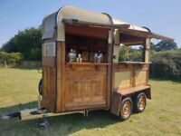 Glamping Trailer Vintage Rice Gin Bar Pop up catering bar