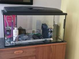 112 litre aquarium with equipment