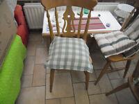 8 Pine chairs