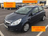 2007 VAUXHALL CORSA CLUB AUTOMATIC / NEW MOT / PX WELCOME / SERVICE HISTORY / FINANCE / WE DELIVER
