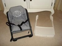 Portable lightweight high chair - perfect for holidays