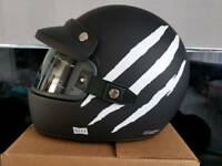 Retro motorbike helmet