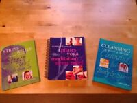 Collection of 3 yoga/meditation and spiritual well being books. £1.50