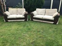 Jumbo cord sofas 3&2 seater can deliver today