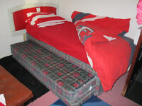 SINGLE BED WITH PULL OUT BED