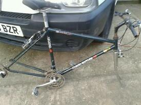 "CLAUD BUTLER 20"" RACING FRAME WITH FOLKS ,CRANK SET AND BRAKES"
