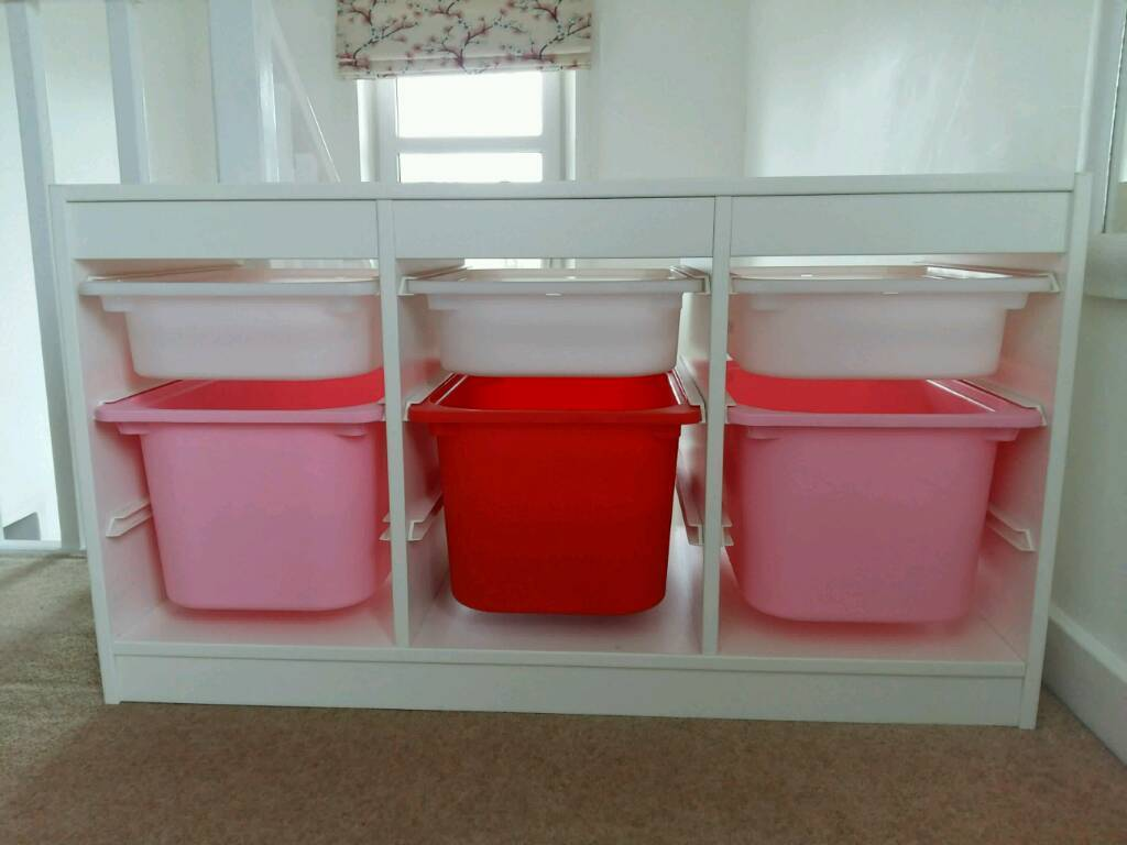 Ikea trofast toy storage unit with boxes in kelvindale for Ikea box shelf unit