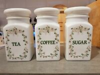 Tea, coffee and sugar storage containers