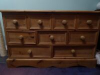 Retro wooden chest of drawers. Collection only