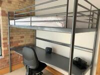 IKEA SVARTA loft Bunk Bed with Desk