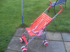Red Kite Lightweight Stroller/ Travel Buggy - great for holidays!
