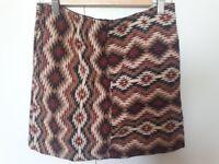 Stradivarius ethnic print skirt, size 12