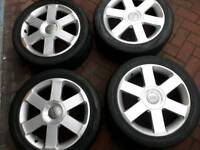 17 inch genuine Audi s line alloy wheels pcd 5x112