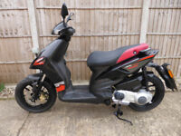 Aprilia SR Motard 125, 2016 model in Black, Mot 6/4/19, One owner, 2 keys, vgc only £995